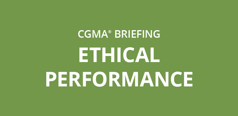 CGMA briefing: Ethical performance