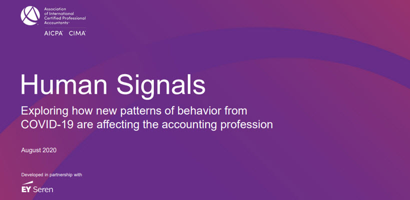 Human Signals: New patterns of behaviour and the accounting profession