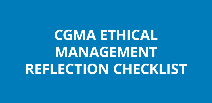 ethical management reflection checklist